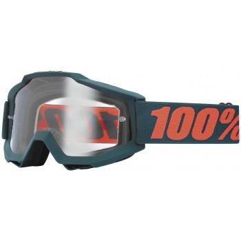 Мотоочки 100% Accuri OTG Gunmetal - Clear Lens