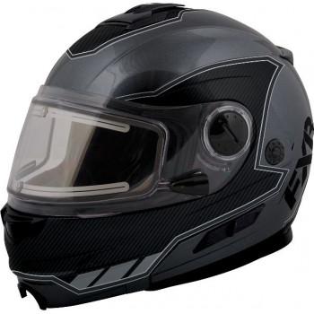 Снегоходный шлем FXR Fuel Modular с подогревом визора Grey-Black 2XL