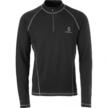 Термофутболка Scott 1/4 ZIP 8ZR0 Black XL