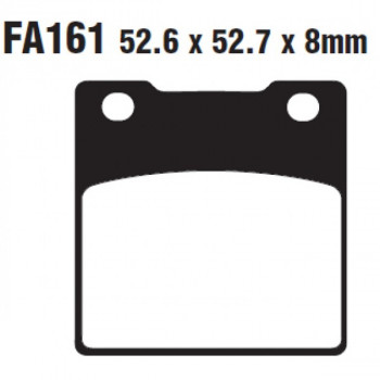 Колодки тормозные дисковые EBC FA161V