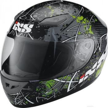 Мотошлем IXS HX 2410 MotoHead Black-Green-White XL
