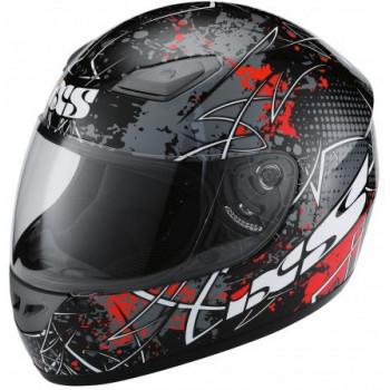 Мотошлем IXS HX 2410 MotoHead Black-Red-White XL