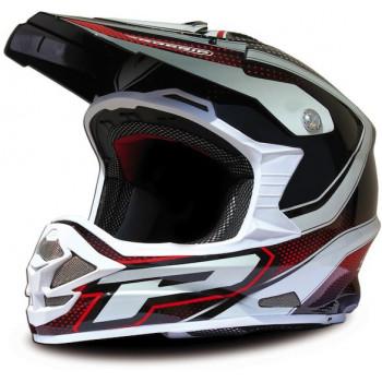 Мотошлем ProGrip 3090/13 Black-White-Red S