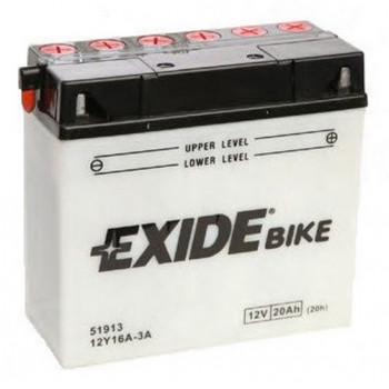 Аккумулятор сухозаряженный Exide 12Y16A-3A 19Ah 190A