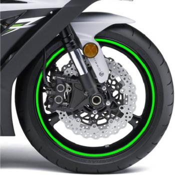 Наклейка на обод колеса Print Fluorescent Green