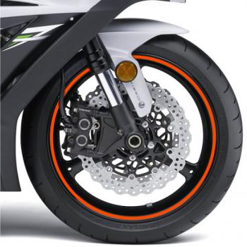 Наклейка на обод колеса Print Riflettent Orange