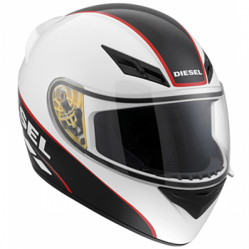 Мотошлем AGV Diesel Full Jack Logo White-Black-Red S