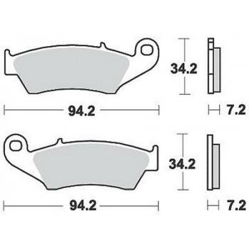 Колодки тормозные дисковые LUCAS MCB669