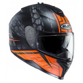 Мотошлем HJC IS17 Enver MC6HSF Black-Orange L