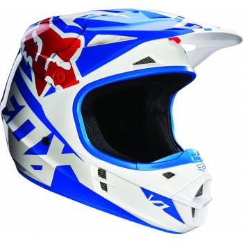 Мотошлем Fox V1 Race ECE Blue L