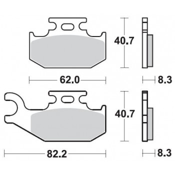 Колодки тормозные Braking BR 936CM44