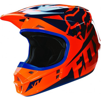 Мотошлем Fox V1 Mako Helmet Ece Orange-Blue XL