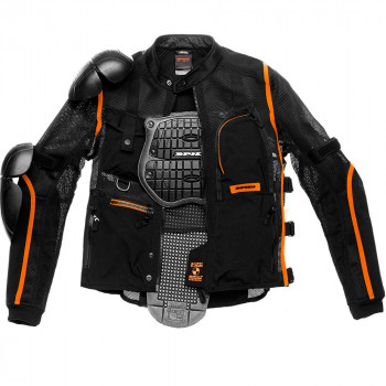 Мотокуртка Spidi Multitech Armor EVO Black-Orange XL