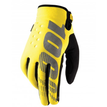 Мотоперчатки зимние 100% BRISKER Cold Weather Yellow L (10)