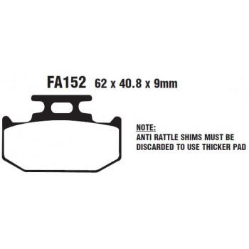 Тормозные колодки EBC FA152TT