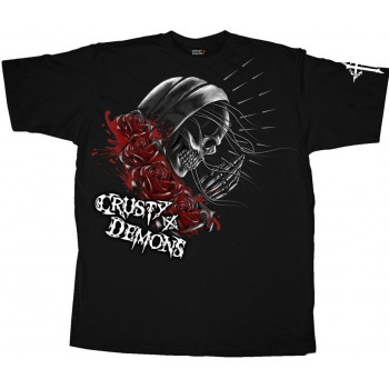 Мотофутболка Crusty Pray Skull Black XL