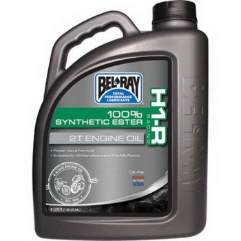 фото 1 Моторные масла и химия Масло моторное Bel-Ray H1-R Racing 100% Synthetic Ester 2T Engine Oil (4L)