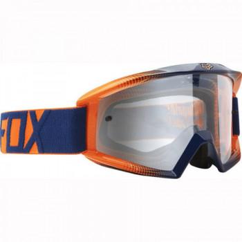 фото 1 Кроссовые маски и очки Мотоочки Fox Main Race 2 Orange-Blue - Clear