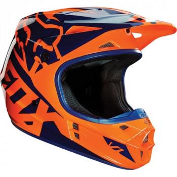 фото 1 Мотошлемы Мотошлем Fox V1 Race ECE Orange-Blue S