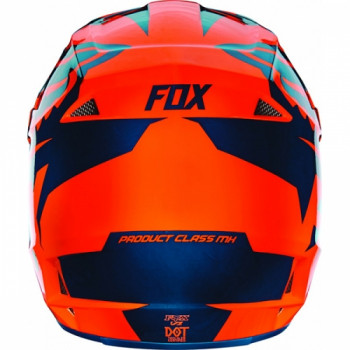 фото 4 Мотошлемы Мотошлем Fox V1 Race ECE Orange-Blue S