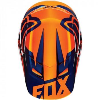 фото 5 Мотошлемы Мотошлем Fox V1 Race ECE Orange-Blue S