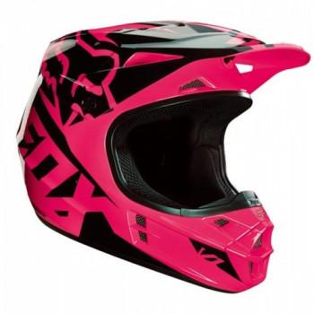 фото 2 Мотошлемы Мотошлем Fox V1 Race ECE Pink XL