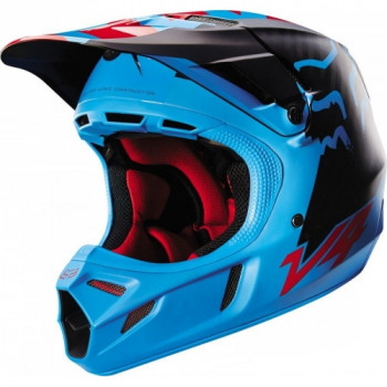 Мотошлем Fox V4 Libra Helmet Ece Blue-Red-Black S