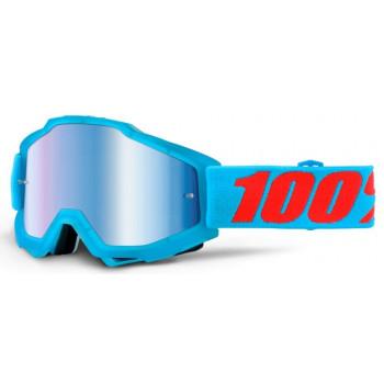 Мотоочки 100% Accuri Acidulous Cyan - Mirror Blue Lens