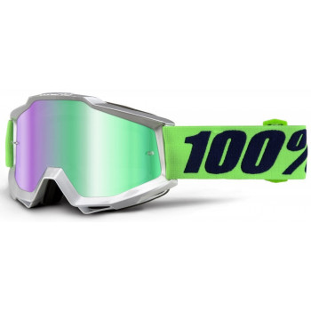 Мотоочки 100% Accuri Nova - Mirror Green Lens