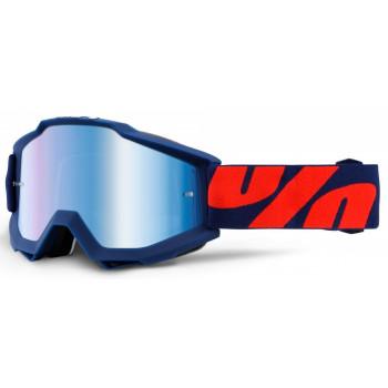 фото 1 Кроссовые маски и очки Мотоочки 100% Accuri Raleigh - Mirror Blue Lens