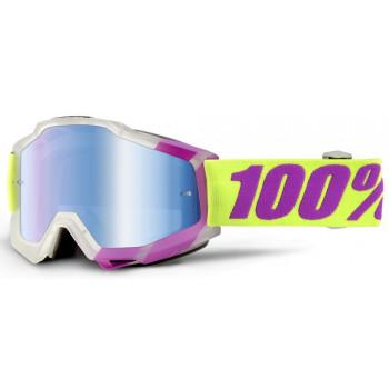 фото 1 Кроссовые маски и очки Мотоочки 100% Accuri Tootaloo - Mirror Blue Lens