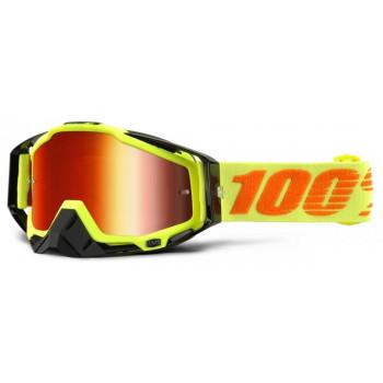 Мотоочки 100% Racecraft Attack Yellow - Mirror Red Lens