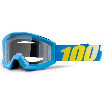 фото 1 Кроссовые маски и очки Мотоочки 100% Strata Moto Goggle Cyan Blue - Clear
