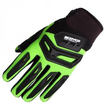 Мотоперчатки Scoyco MX54 Green XL