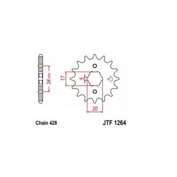 Звезда передняя JT Sprockets JT JTF1264.17