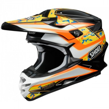 Мотошлем Shoei VFX-W Turmoil TC-8 Black-Yellow-White M