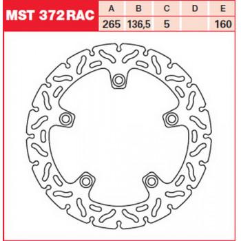 Tормозной диск Lucas MST372RAC