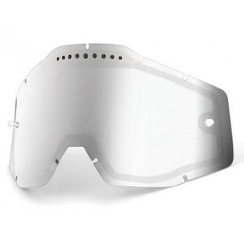 Линза 100% Racecraft/Accuri/Strata Vented Dual Pane Lens Anti-Fog - Silver Mirror-Smoke