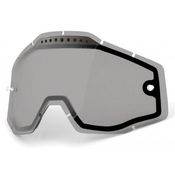 Линза 100% Racecraft/Accuri/Strata Vented Dual Pane Lens Anti-Fog - Smoke