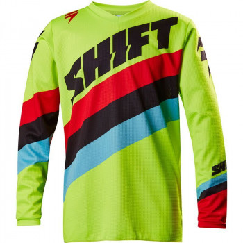 Мотоджерси Shift Youth Whit3 Tarmac Jersey Flo Yellow XL 2017