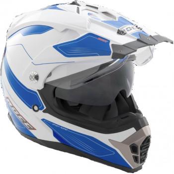 Мотошлем Rocc 771 White-Blue L