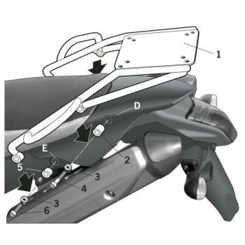 Крепление кофра центрального Shad XT660 X/R 04-12