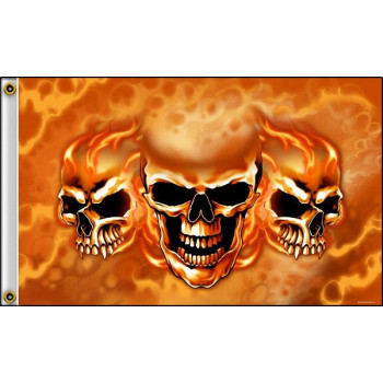 Флаг Hot Leathers Burn it Up Skulls