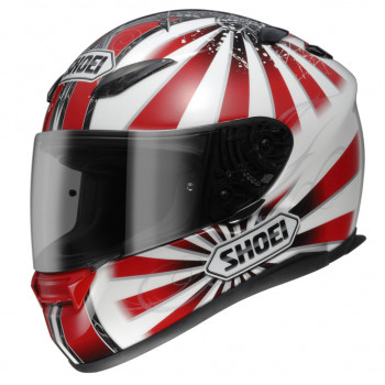 Мотошлем Shoei XR-1100 Conqueror TC-1 White-Red XL