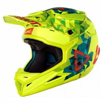 фото мотошлем Leatt GPX 4.5 V22 ECE Lime-Teal XS (53-54см)