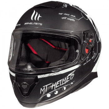 фото 1 Мотошлемы Мотошлем MT Thunder 3 SV Board Matt Black-White L