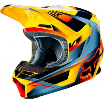 фото 1 Мотошлемы Мотошлем Fox V1 Motif Helmet Yellow XS