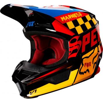 фото 1 Мотошлемы Мотошлем Fox V1 Czar Helmet Black-Yellow XS
