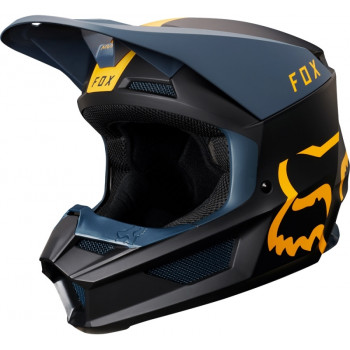 фото 1 Мотошлемы Мотошлем Fox V1 Mata Helmet Navy-Yellow 2XL