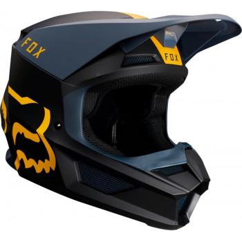 фото 3 Мотошлемы Мотошлем Fox V1 Mata Helmet Navy-Yellow 2XL